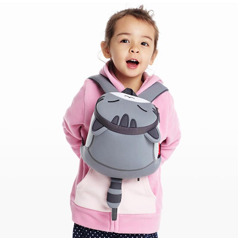 NOHOO Waterproof Cute Cats Animals Baby Backpack Kids Toddler School Bags For Girls Children School Bags Kids Kindergarten Bag