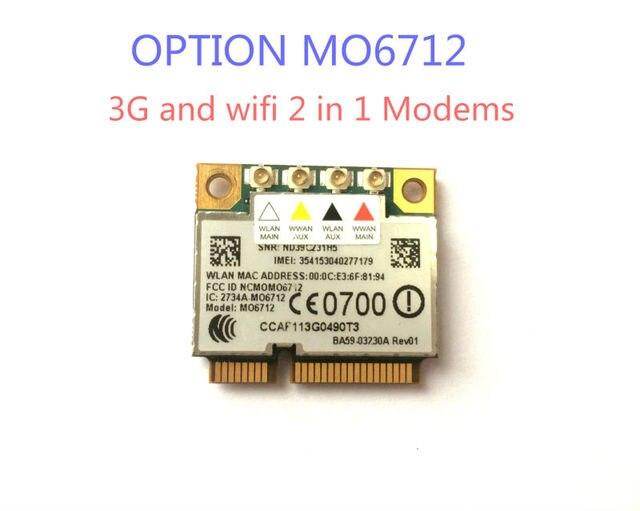 Вариант GTM671W MO6712 Mini PCI-E 3 Г wi-fi Беспроводной Карты HSDPA WWAN GPS 2 в 1 Модемов
