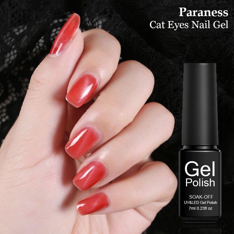 Paraness 3d Cat Eye Metallic Gel Varnish Lacquer Manicure