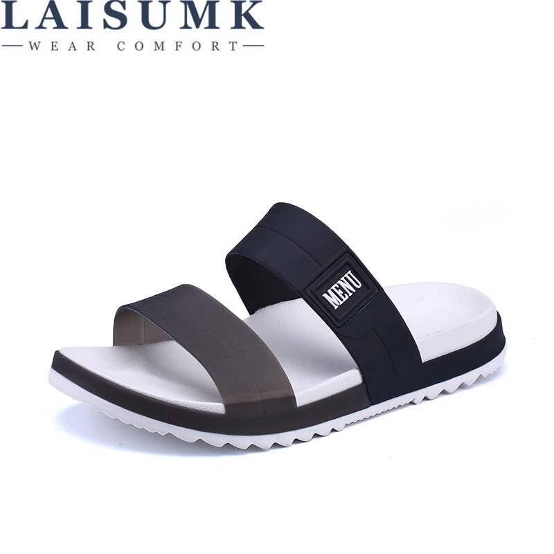 LAISUMK Summer Beach Men Slippers Casual Shoes Double Buckle Man Slip on Flip Flops Flats Camouflage Flip Flop Indoor & Outdoor 71