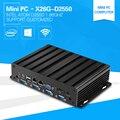 Industrial mini pc com atom d2550 1.86 ghz dual core quatro degraus computador desktop barebone 2 * porta com 2 * suporte lan 2 * exibe