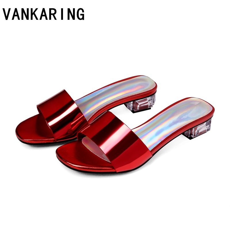 brand summer high quality patent leather shoes woman beach sandals lady silver blue sexy open toe casual mules summer slippersbrand summer high quality patent leather shoes woman beach sandals lady silver blue sexy open toe casual mules summer slippers
