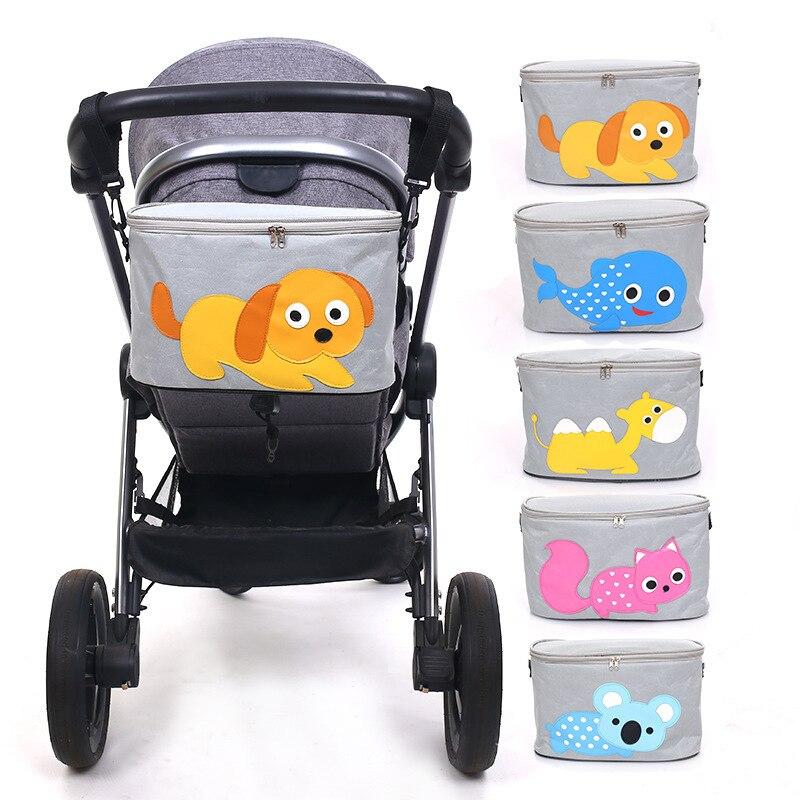 Baby Stroller Bag Diaper Bag For Baby Stuff Travel Carriage Pram Buggy Cart Bottles Nappy Bag For Wheelchairs Stroller Organizer