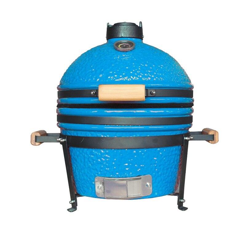Auplex Mini Kamado 16 pouces en céramique barbecue Grill Pizza cuisson poulet grillé four rôti boeuf Steak cuisson grille NO.AU-16MINI