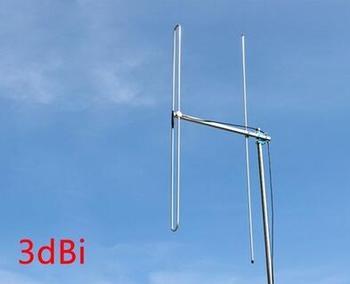 Oshinvoy Estación de FM Antena Yagi 2 elementos 88-108 m al Aire Libre FM dipole Antena Yagi