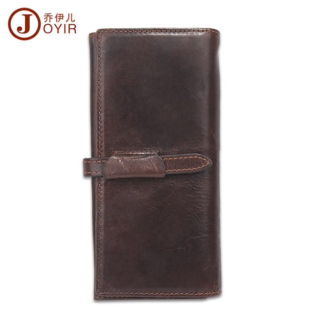2017 Genuine Leather Men Wallets Zipper Design Business Male Wallet Fashion Purse Card Holder Long Clutch Wallets Men Gift