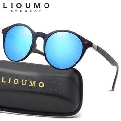 LIOUMO 2020 Brand Design Men Women Classic Retro Rivet Polarized Sunglasses TR90 Legs Oval UV400 lentes de sol mujer zonnebril