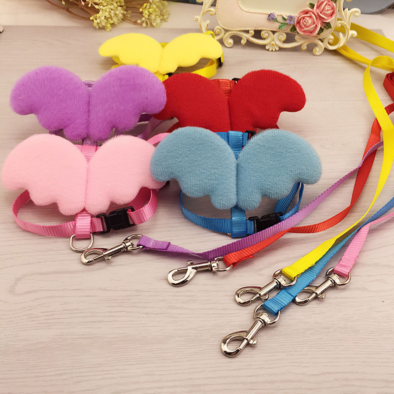 HSWLL Pet Leash Angel Wings Back Wings Pet Leashes New Pet Supplies ...