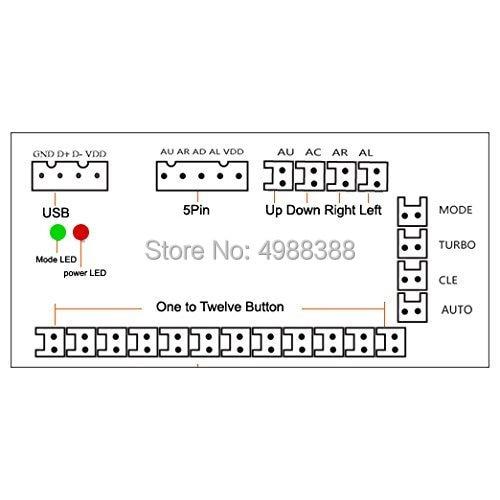Image 5 - 20PCS  Zero Delay Arcade DIY KIT USB ENCODER PC TO JOYSTICK for 4way&8way ZIPPY JOYSTICK&Arcade BUTTON-in Joysticks from Consumer Electronics