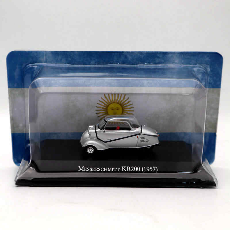 IXO Altaya 1:43 Messerschmitt KR200 1957 Silver Diecast Models Limited Edition Collection