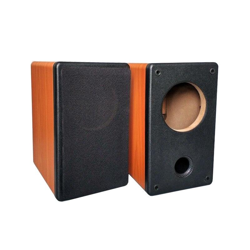 4 pouces pleine fréquence vide boîtier boîte HIFI bois haut-parleur BRICOLAGE cas 250*150*200mm 2 pcs/lot