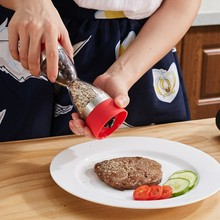 Kitchen Cooking Tools Manual Hourglass Shape Cook Dual Salt Pepper Mill Spice Grinder for