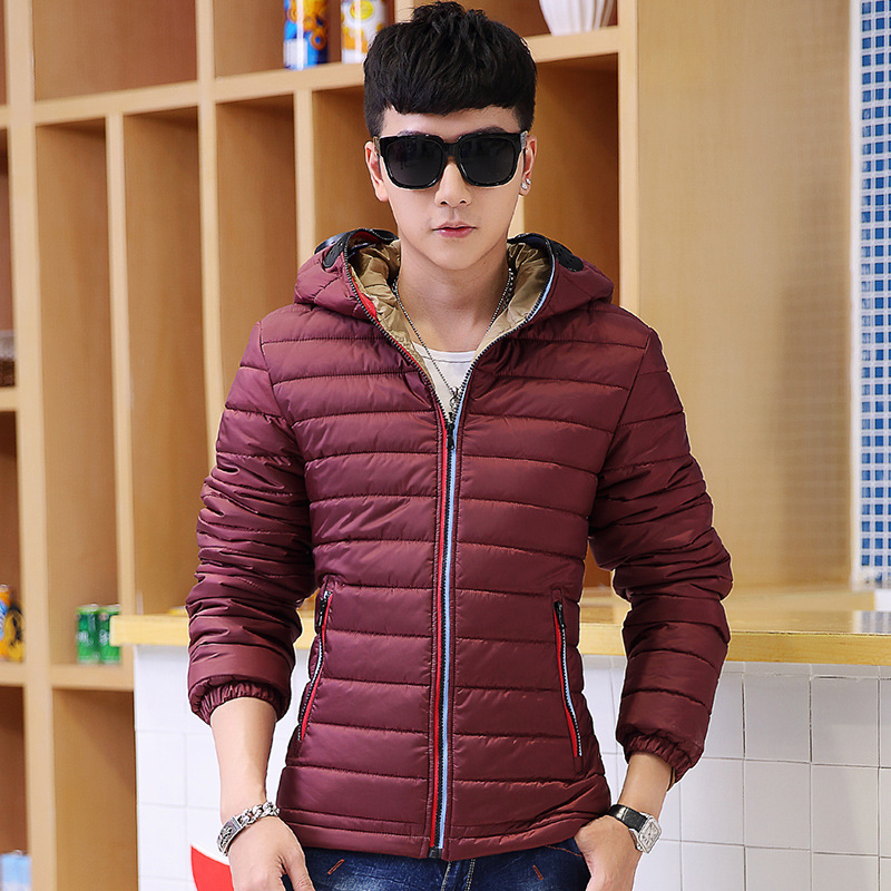 Winter Jacket Men Warm Down Jacket Casual Parka Men Padded Jacket Casual Handsome Hooded Coats