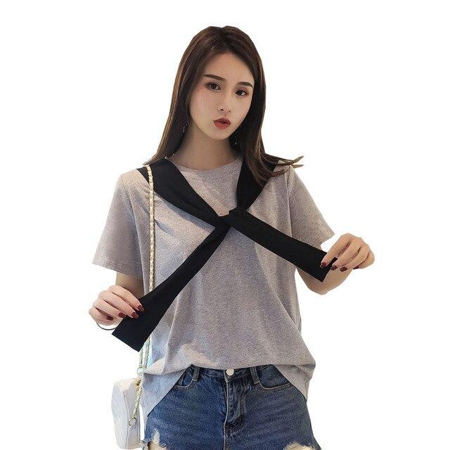 YZ Women Plus Size XL-4XL T Shirts Summer T-Shirts 2019 Letter Printed Short Sleeve Ladies Tshirts Big Size Casual Tops Feminino