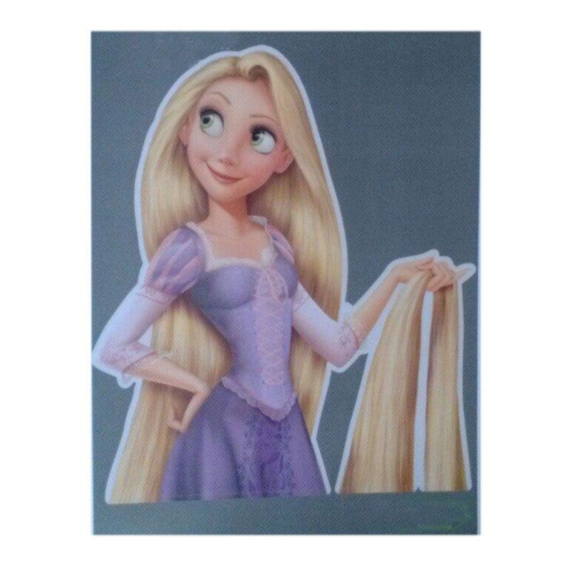 Anime Tangled Rapunzel Long Hair Princess Cartoon Vinyl