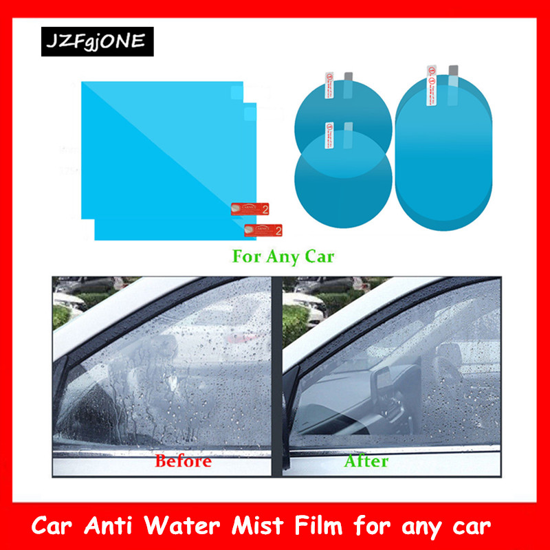 2Pcs/set Car Anti Water Mist Anti Fog Rainproof Window Protective Film Useful Auto Car Styling Window Film Accessories