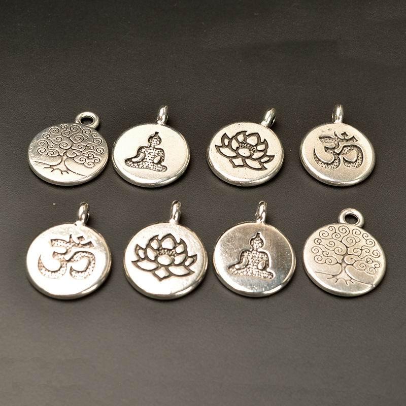 10 Pcs Tibetan Silver Tree of Life Pendant for DIY Necklace Bracelet Jewelry Set
