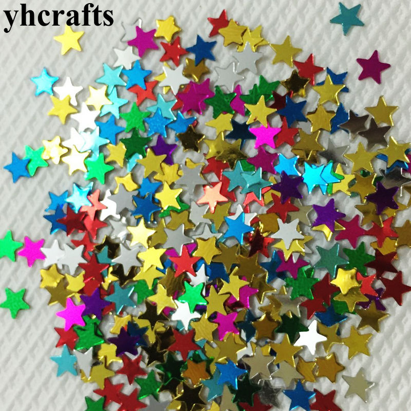 20gram/Lot.Mini 4mm Star Sequins Craft Material Kindergarten Arts And Crafts Creative Activity Items DIY Toys Color Learning OEM
