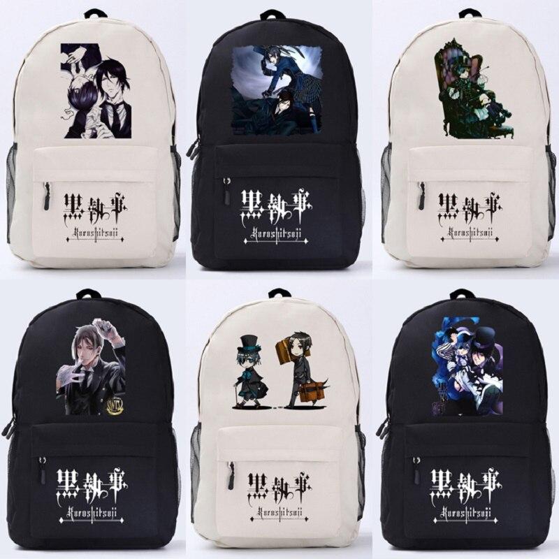Kuroshitsuji Anime Backpack Preppy Style Unisex High Quality Large Capacity Cute
