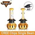 Auxbeam 2 unids Cree Chips de Color de Oro de Lujo 60 W/pair 6000 K H7 Coche conducido Bombillas de Los Faros de Aluminio de Calidad Aeronáutica Fit para Toyota Ford