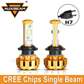 Auxbeam 2pcs Cree Chips Luxury Gold Color 60W/pair 6000K H7 Led Car Headlight Bulbs Aircraft Grade Aluminum Fit for Toyota Ford
