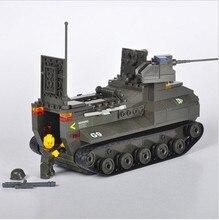 Amphibious tanks 223pcs 3D construction plastic Building Block Sets Military Army Tank children toys Gift compatible with legoe