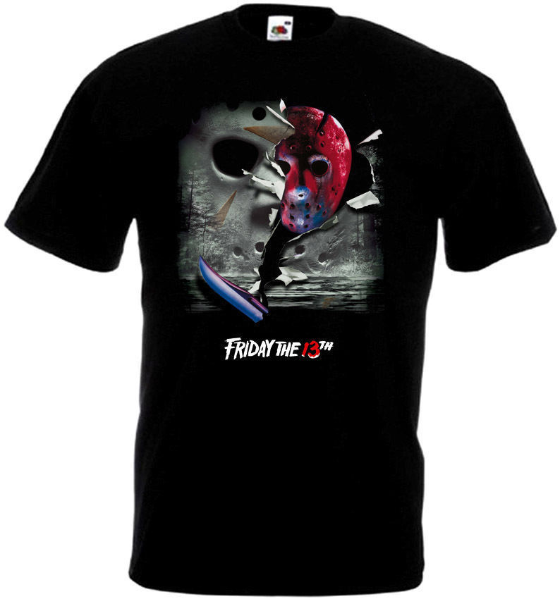 Friday The 13 v13 T-Shirt all sizes S-5XL BLACK
