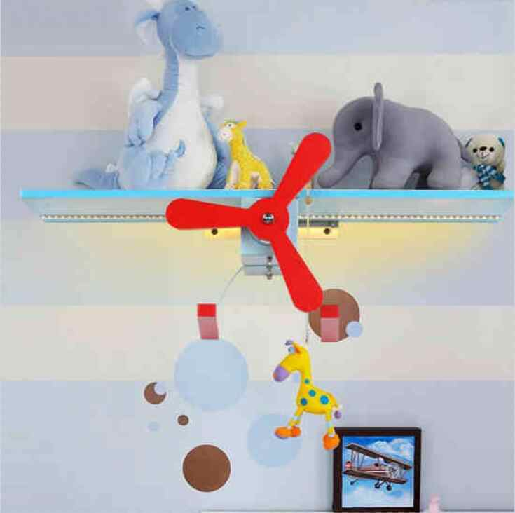 Прекрасный самолет настенный светильник Искусство мультфильм бра спальня детская комната лампы Светодиодные Night Light на ночники