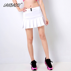 Lanbaosi women s tennis skirts badminton volleyball running cheering beach sports skorts high waist pleated boufancy.jpg 250x250