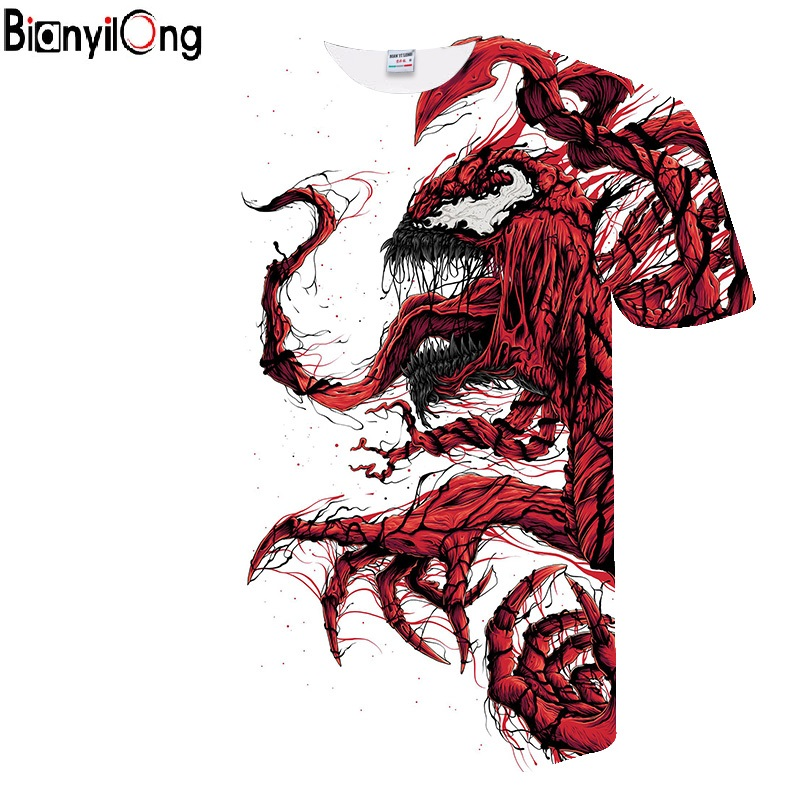 New Venom T-shirt Marvel Fashion Casual Short-sleeved Shirt Men And Women Fashion Trend Youth Cool T-shirt Men's Casual T-shirt