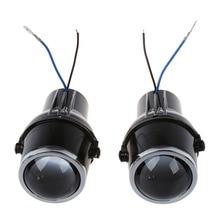 2 Unids metal linterna del coche luz de Niebla de la lente del proyector 55 W H3 Universales HID Xenon Lámpara de Luz de Niebla Del Bulbo de Halógeno transparente H3 bombillas halógenas