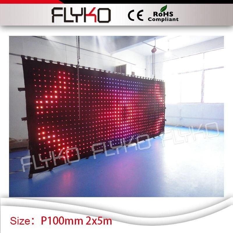 P10cm scène toile de fond affichage vidéo 2 m hauteur x 5 m longueur vision rideau led tv spectacle éclairage affichage écran led