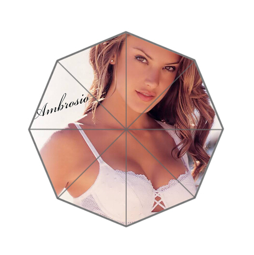 Fashion Design Umbrella Custom Alessandra Ambrosio Folding Umbrella For Man And Women Free Shipping UPC-273