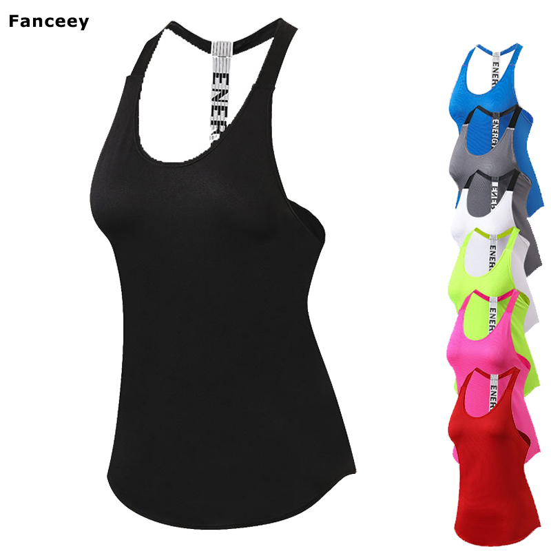 2017 Summer Sexy Harness Women Tank Tops Female Dry Quick Loose Fitness Vest Singlet For Exercise Women's Workout T-Shirts