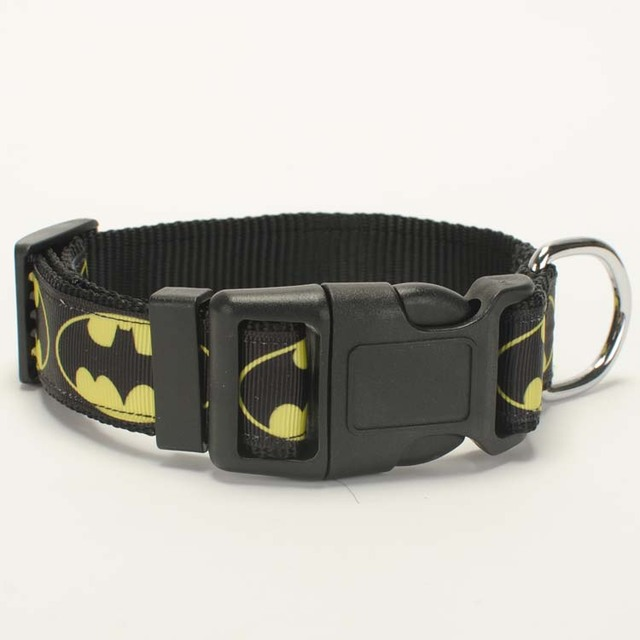"1 ""25mm avenger bat pattern Collare di Cane, 1 pollice Dog Collar 2 dimensione a"