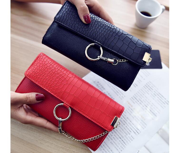 Mode geldbörse Weichen teig brieftasche Schlange geldbörse Individuelle design weibliche tasche hand tasche