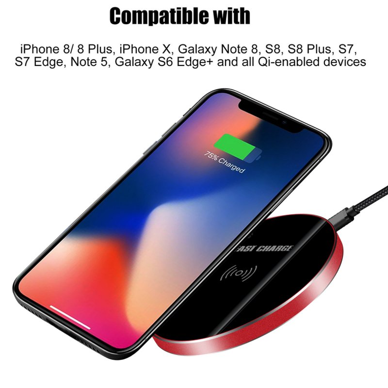 For Doogee S60 Wireless Charger Quick Charge 3.0 Glass