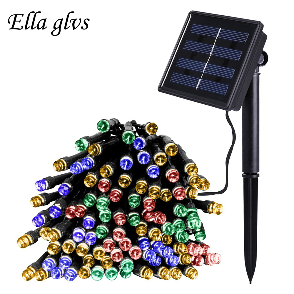 Solar Powered Garden Light Strings LED 1200LEDS 22MBlossom Hiasan, Lawn, Patio, Pokok Krismas, Pernikahan