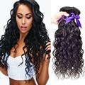 Brazilian Virgin Hair Water Wave 4 Bundles Wet And Wavy Virgin Brazilian Human Hair Extension Natural Black Brazilian Curly Hair