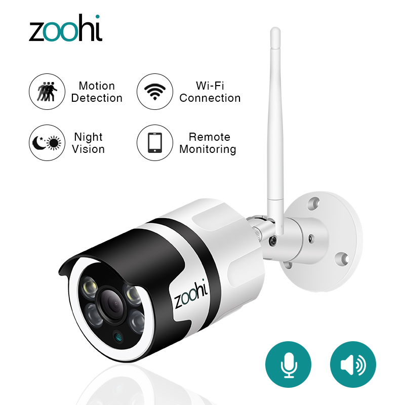 Zoohi 1080P HD IP Camera Surveillance Wireless Camera CCTV WIFI Camera Security Camera APP Control Night Vision Two-Way Audio