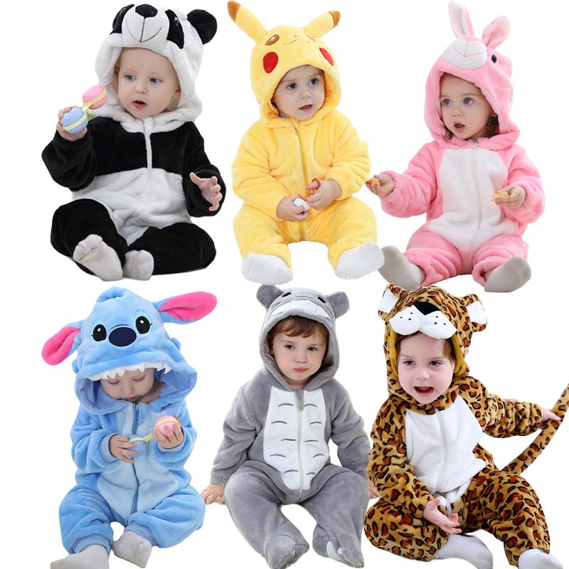 Baby Clothes Rompers Infant Todder Romper Boys Girls Pyjamas Winter Jumpsuit Onesie Kids Winter Warm Kigurumi Overalls Outfits