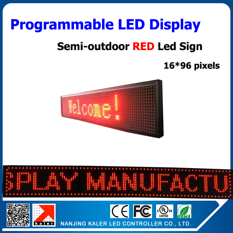 P10 Red color semi-outdoor <font><b>led</b></font> <font><b>advertising</b></font> panel 24*104cm programmable <font><b>led</b></font> text moving display <font><b>advertising</b></font> <font><b>led</b></font> <font><b>billboard</b></font> image
