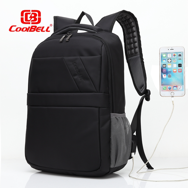 CoolBell Brand External USB Charge Laptop Backpack Waterproof Notebook Computer Bag 15.6 inch for Business Men Women fashional brand external usb charge anti theft backpack oxford bag for women 15 6inch waterproof laptop backpack with rain cover