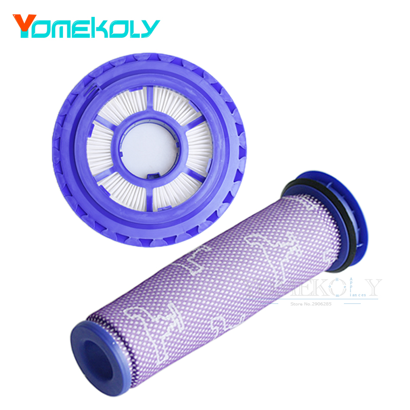 1Set Post Filter & Pre Filter for Dyson DC41 DC65 DC66 Animal Vacuum Cleaner Parts Replaces Part #920769-01 & 920640-01 2pcs dyson dc41 post motor hepa filter replacement for dyson dc41 dc65 cyclone vacuum cleaners replace part 920769 01