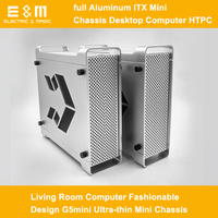 Full Aluminum ITX Mini Chassis Desktop Computer HTPC Living Room Computer Fashionable Design G5mini Ultra thin Mini Chassis