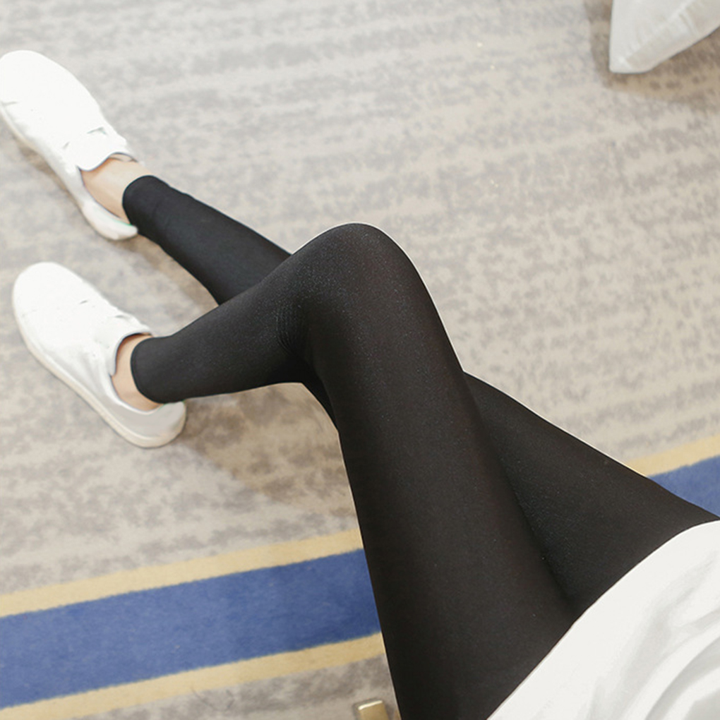 Autumn Women Thin Shiny   Leggings   Stretch Pants 2019 Full Ankle Length   Leggings   Basic   Leggings