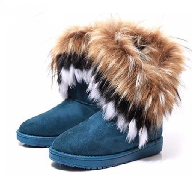 Caliente de invierno de las mujeres botas de nieve, piel Calzado Mujer invierno botas Zapatos Mujer Zapatos casuales zapatos de mujer botas de Yst910