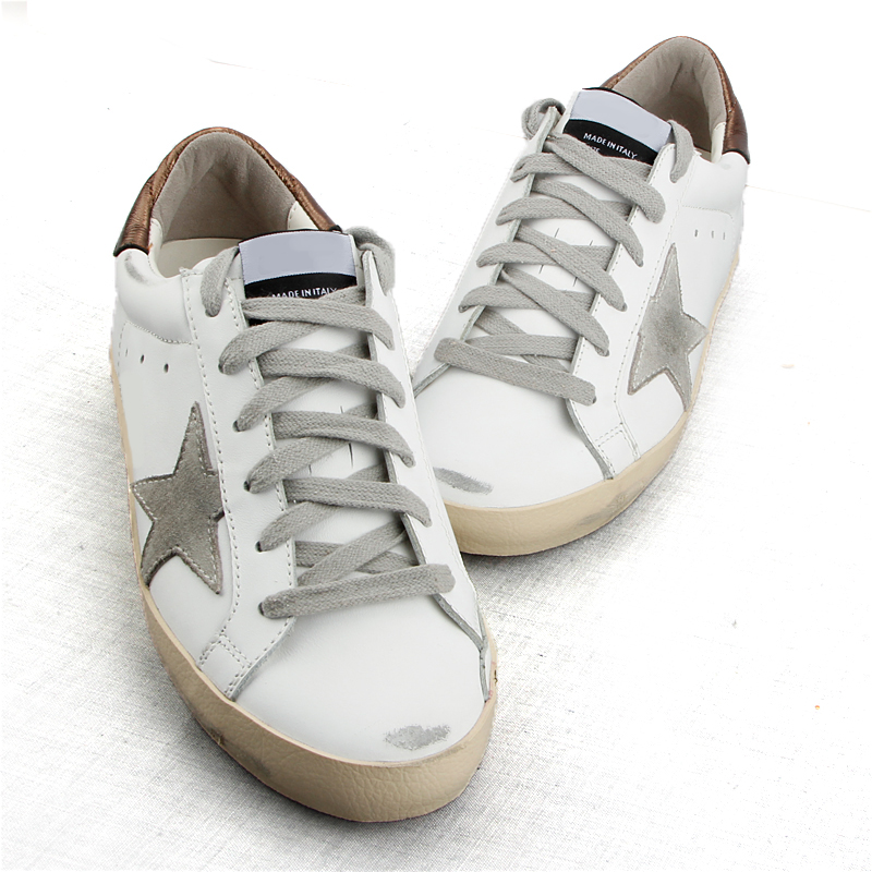 Classical White flat women Shoes Genuine Cow Leather Star Sneakers Cross-tied Lace up Casual do old Dirty Shoes zapatos de mujer woman burst leather casual shoes golden star women do old dirty shoes female lace up distressed leather vintage flat shoes