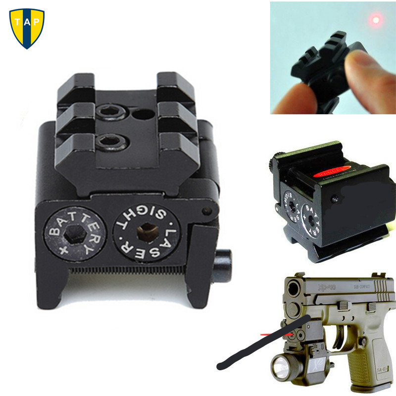 Mini Adjustable Compact Tactical Red Dot Laser Sight Scope Fit For Pistol Gun With Rail Mount 20mm Collimator Gun Laser
