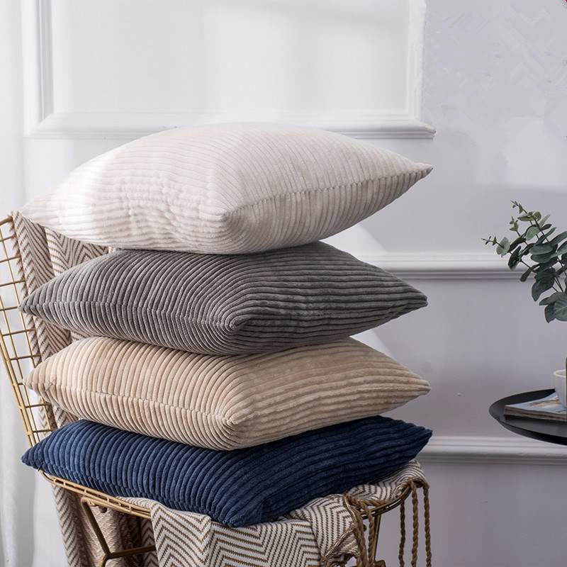 30x50/45x45/<font><b>50x50</b></font>/55x55cm soft solid corduroy cushion cover sofa pillowcase decorative throw <font><b>pillow</b></font> cover sqaure <font><b>pillow</b></font> <font><b>case</b></font> image
